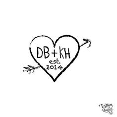 Personalized Custom Return Address Rubber Stamp or Self Inking - Carved Initials Heart Arrow Stamp Personalized Custom Return Address Rubber Stamp or Self Inking – Brittany Lauren Design - Rubber Stamps, Stationery and Fine Gifts