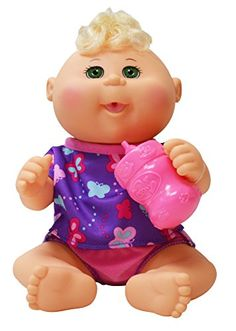 Baby Doll: Cabbage Patch Kids 11 Drink N Wet PinkPurple Bald Hispanic Newborn…