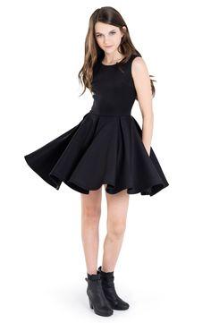 Miss Behave 'Carrie' Skater Dress (Big Girls)