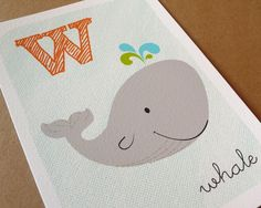 I love whales, and think this is such a clean and peaceful print!