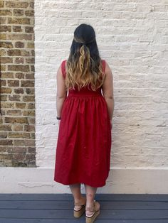 Dress 481 // Grasser AKA The Ultimate Red Sundress - Self Assembly Required