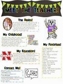 Keep Calm and Teach On: Meet the Teacher. Great for back to school night