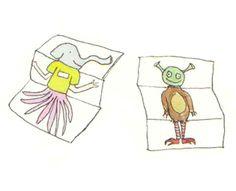 Personaje a medias: Una idea muy creativa para dibujar juntines. http://www.juntines.com/?idPlan=212