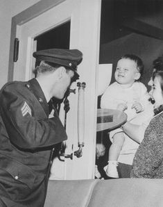 Prestwick Airport - Elvis, who was 25 at the time, stopped over at US Air Force base at the airport at around 7:30pm on March 3 1960, on his way home to the US after he completed his military service in Germany. While his plane was refueling, he met fans, the press and staff at the facility.