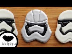 How to Make Star Wars Storm Trooper Cookies - Star Wars Cookie - Ideas of Star Wars Cookie - How to Make Star Wars Storm Trooper Cookies Lego Cookies, Superhero Cookies, Star Wars Cookies, Disney Cookies, Star Wars Cake, Star Wars Party, Cupcake Cookies, Sugar Cookies, Cupcakes