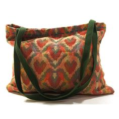 80s Tapestry Tote Bag / Southwest / Geometric by SpunkVintage, $36.00