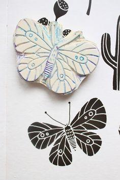 Diminuto: Sellos de mariposas y el libro de Geninne