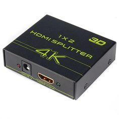 V-King VK-102A 1X2 Mini 2-Port Ultrahd 4K x 2K 1080P 4K HDMI 3D Splitter