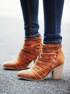 Gush! Loving these strappy Free People booties!