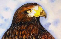 Como Pintar Pássaros - Gavião - (Pintura em Tecido-Parte 1/2)