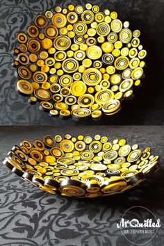 This beautiful yellow bowl was commissioned as a birthday present for a total yellow lover, and boy is it full of yellow! Cream, canary yellow and bright yellow, combine with black to create a bright fun bowl, that will be noticed absolutely anywhere!
