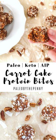 Paleo Carrot Cake Protein Bites