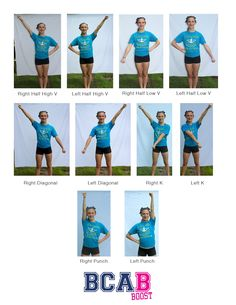 Check out these basic cheer motions we've put together to get you all set fo… Check out these basic cheer motions we've put together to get you all set for the first practice! Cheerleading Moves, Flips Gymnastics, Cheerleading Cheers, Cheer Routines, Motion Images, Sports Organization, Online Registration, Cheer Dance, Put Together