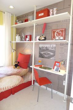 Spark your little guy's bedroom with a fresh palette that feels age appropriate yet breaks new ground