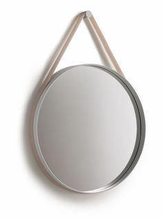 Strap Mirror by Hay. The Strap Mirror comes with a grey strap. Available in two sizes: - cm) - cm) Please allow 2 weeks for delivery. Home Decor Furniture, Furniture Design, Hay Design, Design Ideas, Danish Design Store, My Home Design, Interior Exterior, Interior Design, Interior Ideas