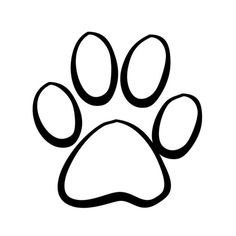 How To Draw A Cat Paw Print Kittie Crafty Pinterest Paw Print