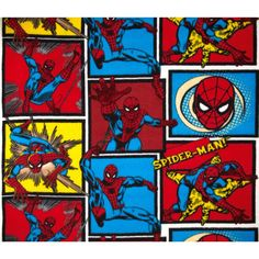 Marvel Comics Spiderman Fleece Blue/Red from @fabricdotcom  This licensed medium weight anti-pill fleece is perfect for creating jackets, hats, vests, mittens, slippers, throws, scarves and much more! This is a licensed fabric and not for commercial use. Colors include blue, red, yellow and black.<P><P>Due to licensing restrictions, this item can only be shipped to USA and Canada.