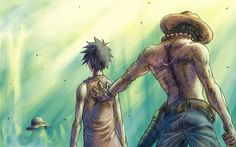 One Piece || Monkey D. Luffy & Portgas D. Ace (Gol D. Ace) – the awesomness with all together in this picture... <3