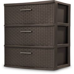 The Three-Drawer #Wide Weave Tower features a versatile storage solution that is ideal for use throughout most rooms in the home. The opaque drawers keep content...