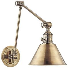 Garden City Double-Arm Wall Sconce (Brass/Large) - OPEN BOX by Hudson Valley Lighting at Lumens.com