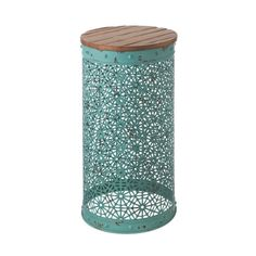 Inject a little geometric texture into unexpected places with this charming cylinder-shaped accent table. Its neutral top and colorful webbed base give any space that artisanal feeling.  Find the Geo-Web Accent Table, as seen in the Reclaiming Boho Collection at http://dotandbo.com/collections/reclaiming-boho?utm_source=pinterest&utm_medium=organic&db_sku=CBK0201