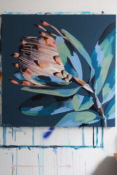 Painting Inspiration, Art Inspo, Protea Art, Abstract Flower Art, Botanical Art, Diy Art, Watercolor Art, Art Projects, Art Drawings
