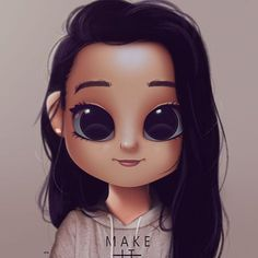Cartoon Portrait Digital Art Digital Drawing Digital Painting Character Design Drawing Big Eyes Cute Illustration Art Girl Make it Happen Cute Eyes Drawing, Realistic Eye Drawing, Cute Girl Drawing, Drawing Drawing, Drawing Cartoon Characters, Cartoon Drawings, Cartoon Art, Cartoon Ideas, Kawaii Drawings