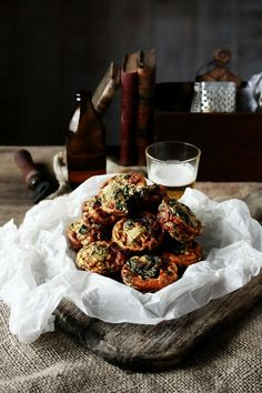 Amaranth and ricotta frittatas