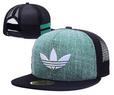 Men's Adidas Originals Clover 3D Embroidery Logo Customized Pattern Mesh Back Trucker Snapback Hat - Green / Black / White