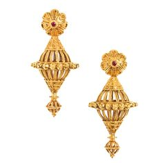 Allukah A Large Pair Of Gold Ear Ornaments India Gujarat 20th Century
