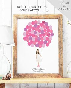 Bat Mitzvah Guest Book Alternative - Bat Mitzvah Party Sign In Board - Sweet 16 Birthday Guest Book - PAPER or CANVAS Guest Book