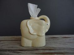 Vintage Yellow Elephant Tissue Holder by GallivantingGirls on Etsy Ceramic Elephant, Elephant Love, Elephant Art, Elephant Stuff, Vintage Elephant, Elephant Nursery, Tissue Boxes, Tissue Holders, Elephants Never Forget