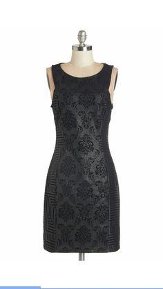 Size large black demask dress