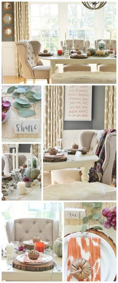 City Farmhouse Thanksgiving Tablescape Hop-Rustic Chic Dining Room