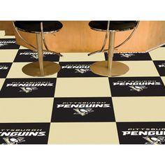 Pittsburgh Penguins NHL Team Logo Carpet Tiles
