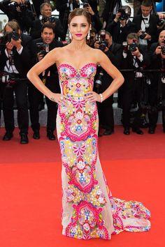 Cannes 2016: Red Carpet Picks | Cheryl Fernandez-Versini in Naeem Khan | http://brideandbreakfast.hk/2016/05/24/cannes-2016-red-carpet-picks/