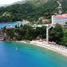 Featured Resort of the Week: Grand #Bahia #Principe #Cayacoa in #Samana #Dominican #Republic. Two words  private #beach. Built on the bluffs overlooking Samana Bay one of the highlights of this resort is its private beach accessed by a glass elevator. Suitable for both #families and #couples this is a perfect place for those who seek to immerse themselves in the #tropics of the Samana Peninsula. Beach bums this one cant be missed! #GrandBahiaPrincipeCayacoa #Samana #DominicanRepublic…