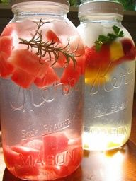 Recipe for Easy Fruit & Herb Flavored Water  http://what2cook.net/2013/03/18/easy-fruit-herb-flavored-water/