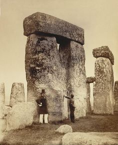Stonehenge by Henry James Photographic Print on Canvas Magnolia Box Size: Extra large Historical Landmarks, Historical Photos, Old Pictures, Old Photos, Rare Photos, Vintage Photographs, Vintage Photos, British Library, Ancient History