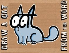 How to Draw a Cartoon Cat Using the Word CAT Easy Steps Tutorial for Kids - How to Draw Step by Step Drawing Tutorials