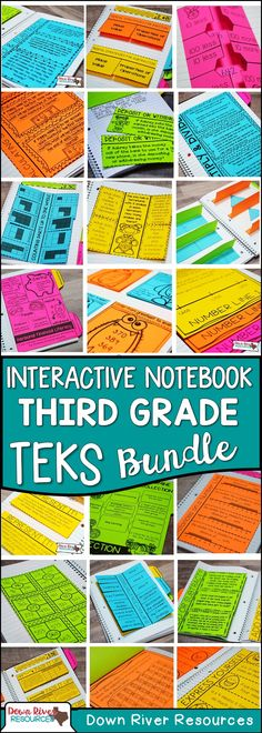 Third Grade Math Interactive Notebook Bundle | Third Grade TEKS-aligned Math Interactive Notebook | Third Grade Math Interactive Notebook | Third Grade Math Notebook | Third Grade TEKS | Topics include: Place Value up to 100,000, Fractional Units, Addition, Subtraction, Multiplication, and Division, Geometry, Measurement, Data Analysis, and Personal Financial Literacy for Third Grade.