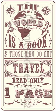 Great travel quote.