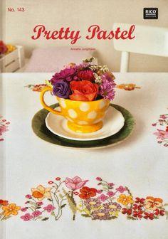 (1) Gallery.ru / Фото #34 - Pretty Pastel - Chepi Rico Design, Pretty Pastel, Pattern Books, Magazine Design, Book Design, Needlepoint, Tea Cups, Decorative Plates, Cross Stitch