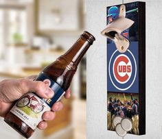 This Chicago Cubs bottle opener can be a great gift to any sports fan. It's the perfect addition to any man cave, bar area, kitchen, or to just put out while watching the big game. It is also a great groomsmen gift. Chicago Cubs Wall Mount Bottle Opener Chicago Cubs Cap Catcher Chicago Cubs Wall Opener Chicago Cubs Beer Opener Chicago Cubs Wall Art Chicago Cubs Craft Chicago Cubs Decor Chicago Cubs Gift Chicago Cubs Diy Chicago Cubs Art