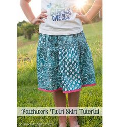 Tutorial: Patchwork twirly skirt for a tween