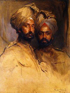 Lt-Col. Risaldar Jagat Singh and Risaidar Man Singh  Philip Alexius de László -
