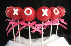 Items similar to Cake Pops: Valentine Cake Pops Made to Order with High Quality Ingredients. on Etsy Cake Pops, Valentines Day Cakes, Valentine Treats, Cupcakes, Cupcake Cakes, Holiday Cakes, Holiday Fun, Holiday Pops, Chocolate Pops