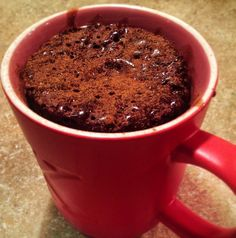 Chocolate Peanut Butter Mug cake made with PB2