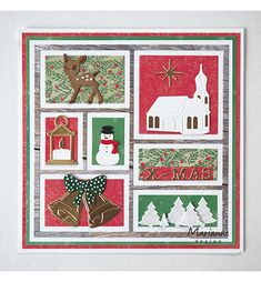45 Ideas Design Layout Card Stampin Up Christmas Cards 2018, Xmas Cards, Christmas Diy, Book Design, Layout Design, Marianne Design Cards, Calendar Pages, New Year Card, Foam Crafts