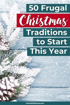 I love Christmas traditions! Especially when they aren't super expensive - So fun to make memories with the kids. These 50 frugal Christmas traditions are awesome. Can't wait to try some this year :) #Christmas #frugalliving #traditions #savemoney #ChristmasIdeas